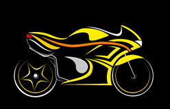 Motorcycle,. 1 motorcycle isolated on a black background vector illustration