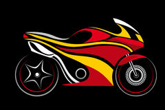 Motorcycle,. 1 motorcycle isolated on a black background royalty free illustration