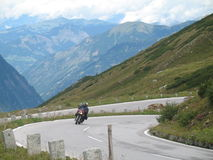 Motorcycle. A motorcycle in the Ausrian alps stock image