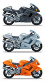 Motorcycle. Sports motorcycle on a white background royalty free illustration