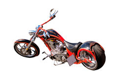Motorcycle. An american motorcycle over a white background Royalty Free Stock Photography