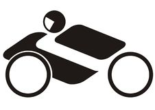 Motorcycle. Clipart of road bike riders Royalty Free Stock Images