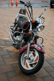 Motorcycle. Beautiful classic style motorcycle with two seats Royalty Free Stock Image