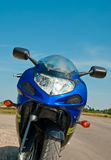 Motorcycle. Front view of parked motorcycle stock image