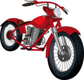 Motorcycle. Retro a red sports motorcycle Stock Photos