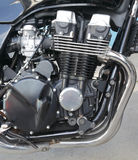 Motorcycle. Close up of a modern motorcycle engine Royalty Free Stock Photography