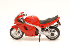 Motorcycle. Red motor cycle on white background Royalty Free Stock Photo