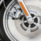 Motorcycle. Wheel part with brakes Royalty Free Stock Photos