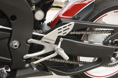 Motorcycle. Black and white handle racing motorcycle Stock Photos