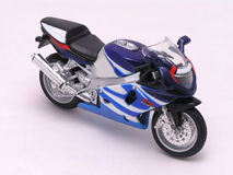 Motorcycle 2. Motorcycle sporty, fancy, detailed diecast on white Stock Images