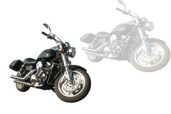 Motorcycle 2. Motorcycle on a white background royalty free stock images