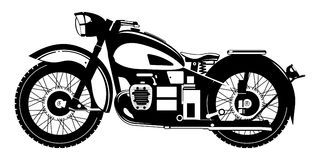 Motorcycle. Vector black and white illustration of motorcycle Stock Images