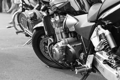 Motorcycle. Focus on a center Royalty Free Stock Images