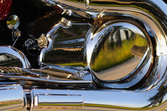 Motorcycle. Closeup of a part of a shining motorcycle Royalty Free Stock Images