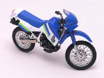 Motorcycle 3. Motorcycle sporty, fancy, detailed diecast on white Royalty Free Stock Image
