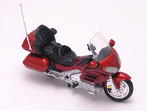 Motorcycle 4. Motorcycle sporty, fancy, detailed diecast on white Royalty Free Stock Images