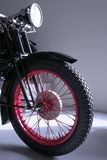 Motorcycle. Portrait of a red rimmed motorcycle Stock Photo