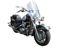 Motorcycle. Big motorcycle isolated on white Stock Image