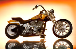 Motorcycle. Picture of a Motorcycle on abstract background Stock Photography