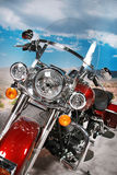 Motorcycle. A view of a beautiful classic design motorcycle royalty free stock image