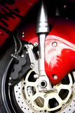 Motorcycle. Close-up brake system of motorcycle Stock Photo