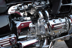 Motorcycle. Engine close up Royalty Free Stock Photography