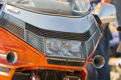 Motorcycle. Fine means for travel and rest Royalty Free Stock Photography