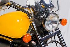 Motorcycle. Yellow motorcycle stock image