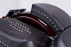 Motorcycle. Rear motorcycle seat. Harley-Davidson stock photos