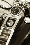 Motorcycle. Detail of a motorcycle speedometer Royalty Free Stock Photos