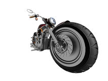 Motorcycle. On a white background Royalty Free Stock Photos