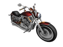 Motorcycle. On a white background Royalty Free Stock Image