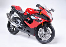 Motorcycle. Model of sport red motorcycle