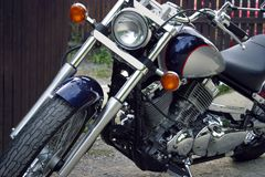 MOTORCYCLE. Headlight Royalty Free Stock Photography