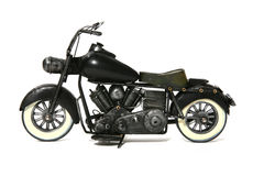 Motorcycle. A model of a antique motorcycle Royalty Free Stock Image
