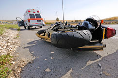 Motorcycle accident royalty free stock photography