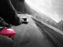 Motorcycle action Stock Images