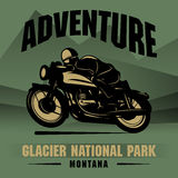 Motorcycle Adventure Poster Stock Images