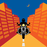 Motorcycle adventure poster Royalty Free Stock Image