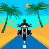 Motorcycle adventure poster Royalty Free Stock Photography
