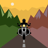 Motorcycle adventure poster Royalty Free Stock Photo