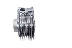 Motorcycle Air Cooled Engine Cylinder Stock Image