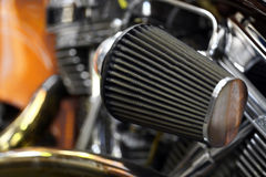 Motorcycle air filter Royalty Free Stock Images
