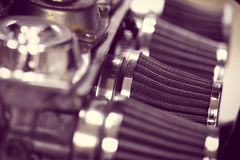 Motorcycle air filter Royalty Free Stock Image
