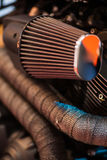 Motorcycle air filter Royalty Free Stock Photography