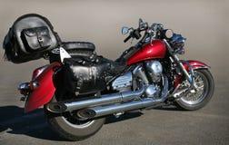 Motorcycle on asphalt Stock Photo