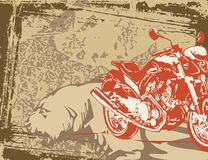Motorcycle Background Stock Photo