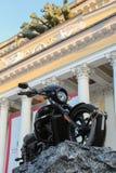 Motorcycle on a background Alexandrinka. Royalty Free Stock Photography