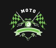 Motorcycle Badge Vectors Stock Images