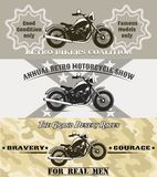 Motorcycle banners Royalty Free Stock Image